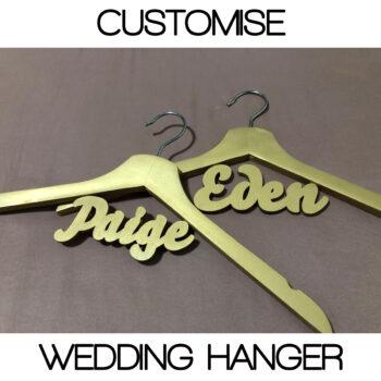 Customised Wedding Hanger Pure Gold
