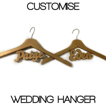 Customised Wedding Hanger Metallic Gold